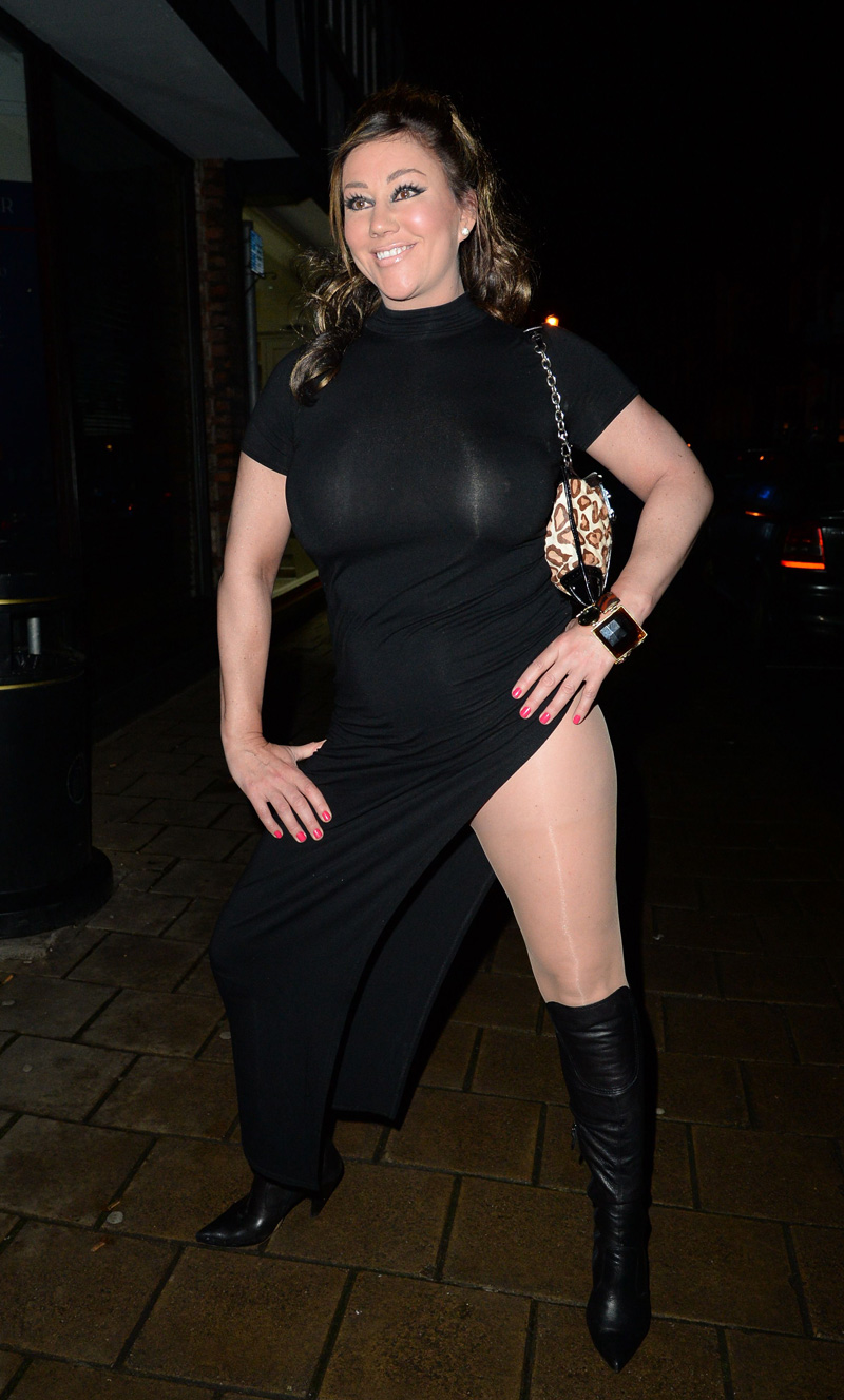 Lisa Appleton Massive Hooters in See Through Dress
