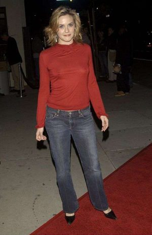 Alicia Silverstone's See Through Top. You Gotta Love Those Perky Breasts!
