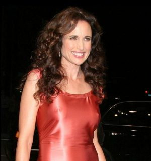 Andie MacDowell See Through Nips. Thanks To HOLLYWOOD TUNA.