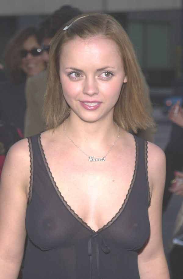 Christina Ricci, See Through Nip Shots As A Kiss-Off For Adam Goldberg