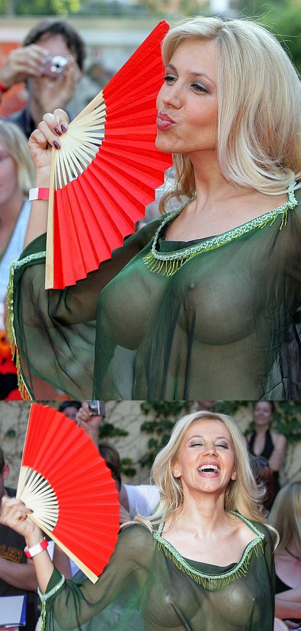 Davorka Tovilo See Through Dress And Large Boobs