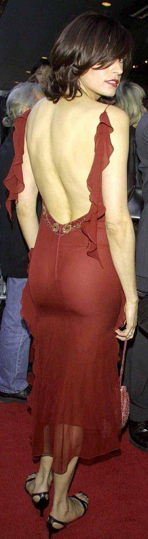 Famke Jannsen, Stunning Ass, Stunning Dress, Is Your Thong Showing?