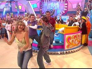 HOLLY WILLOUGHBY Tit Slip On A Kid's Show
