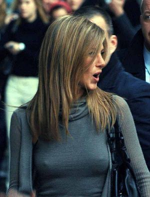 Jennifer Aniston, Low Beams Are On Before Going On The Letterman Show