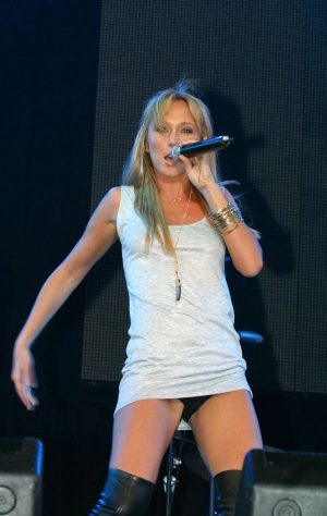 Jenny Frost, Black Panty Upskirt Is Showing,Great Show!