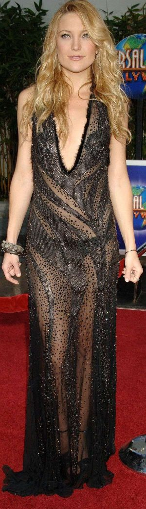 Kate Hudson, See Through Dress Adds You To The Fashion Trend