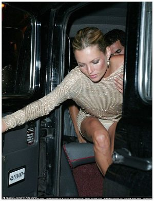 Kate Moss. White Panty Upskirt Shot Getting Into A Taxi. Where To Kate?