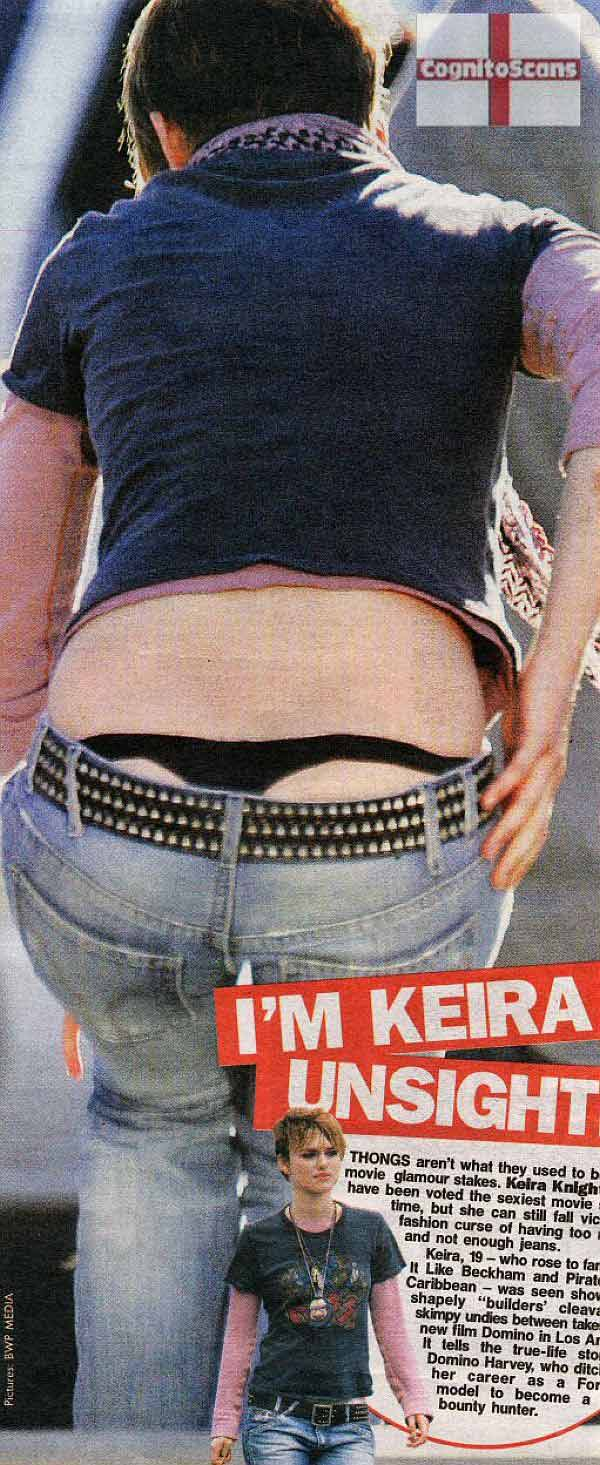 Keira Knightly, A Black Thong Shot Makes It For The Back To Work Crowd.