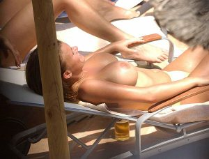 Kerry McFadden, Topless In The Sun, Relaxing Over Her Depression
