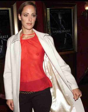 Kim Raver With Your See Through Tit Shot Makes It Easier To Promote