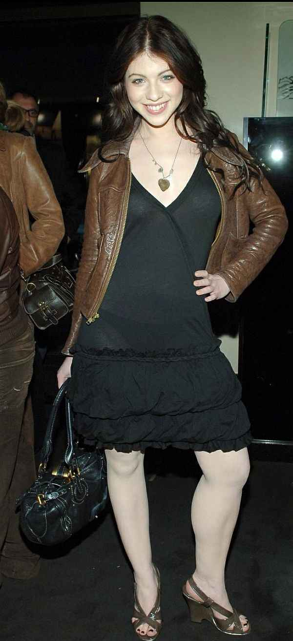 Michelle Trachtenberg See Through Dress And Matching Black Panties