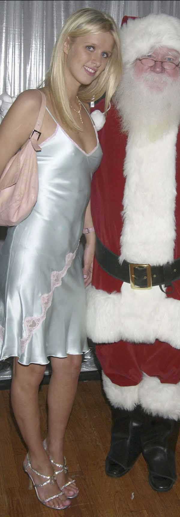 Nicky Hilton See Through Nips And Thong Shot After Giving Santa Her Christmas List. OH! And Pari ...