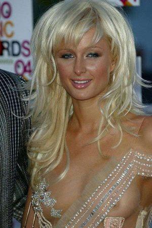 Paris Hilton, See Thru Tit Shot. Getting Even?