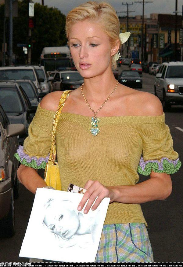 Paris Hilton, See Thru Tit Shot Keeps You Coming Back To Taxi Driver