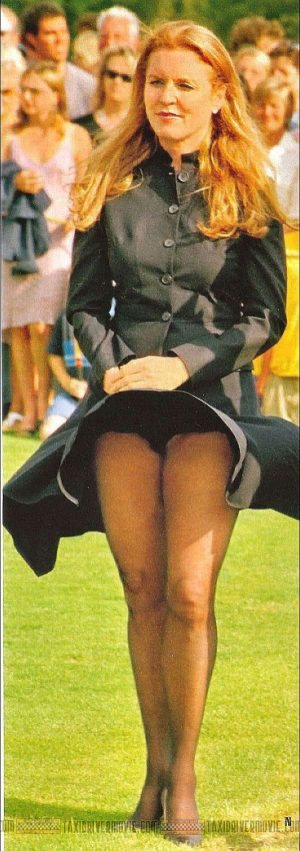 SARAH FERGUSON A Royal Black Panty Upskirt Shot Is Boring, So We Made You Sexier
