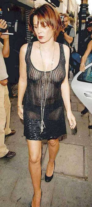 Sadie Frost, Your See Thru Dress Continues This Fall's Fashion Trend.