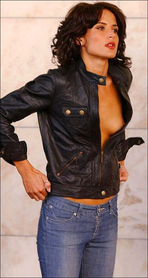 Sophie Anderton, Tit Shot Always Complements The Leather Look