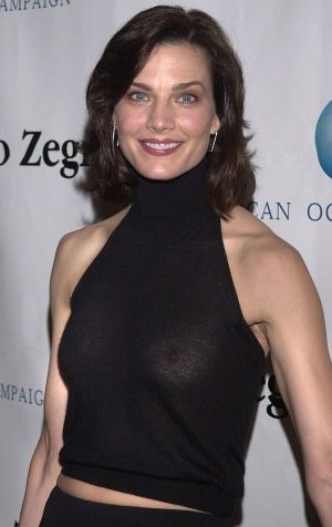 Terry Farrell, See Through Tit Shot Enters You Into The Flash Club.