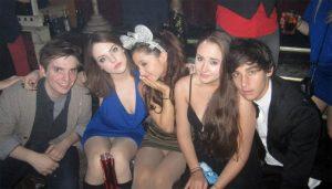 Ariana Grande and Elizabeth Gillies Pantyhose Upskirt