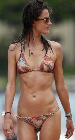 Alessandra Ambrosio 34B-25-34 Bikini Body. In Italian It's…MAMMA MIA!!