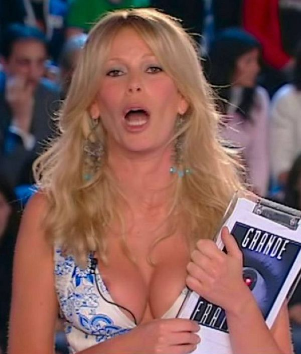Alessia Marcuzzi Nip Slip On TV. A Meltdown In Action!