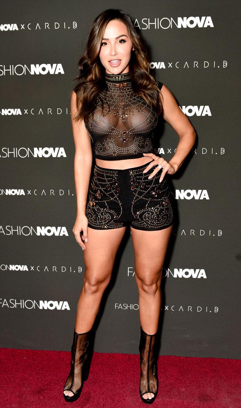 Ana Cheri Big Fake Breasts in Sheer Top