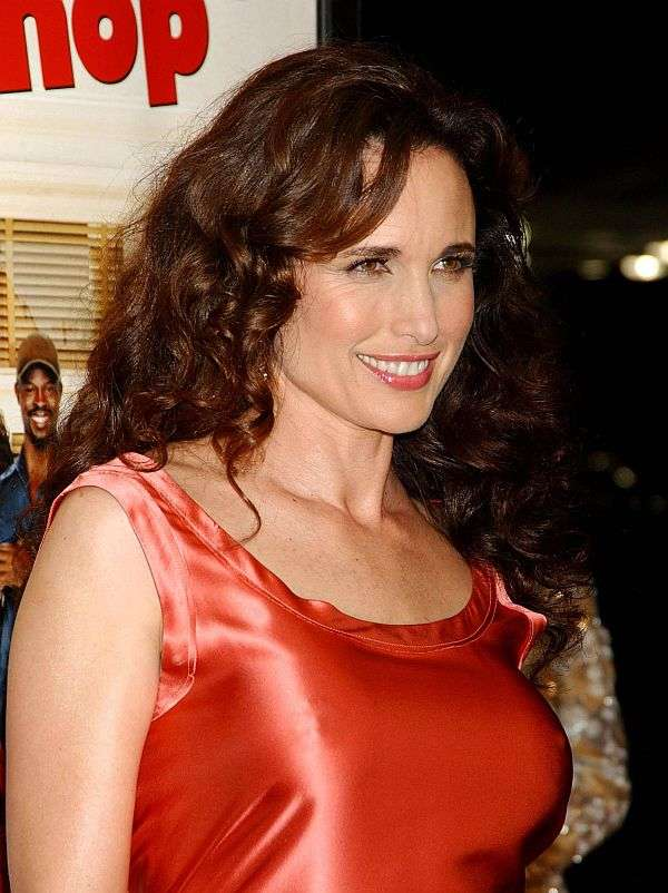 Andie Macdowell, Large Pokies, And An Aureola Impression. OH! Nice Smile Too.