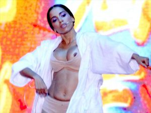 Anitta Pops Out a Nip on Stage