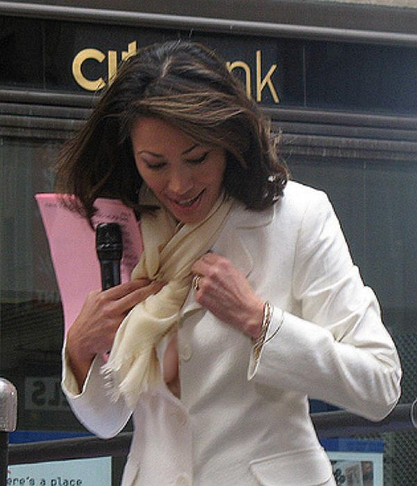 """Ann Curry Boob Peek Off Camera On """"THE TODAY SHOW"""". Thanks to Bob B."""