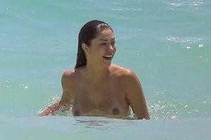 Arianny Celeste Caught Topless on the Beach