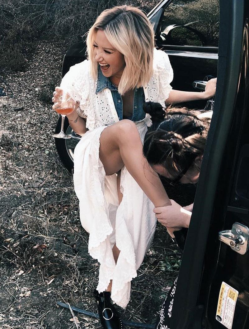 Ashley Tisdale Accidental Upskirt
