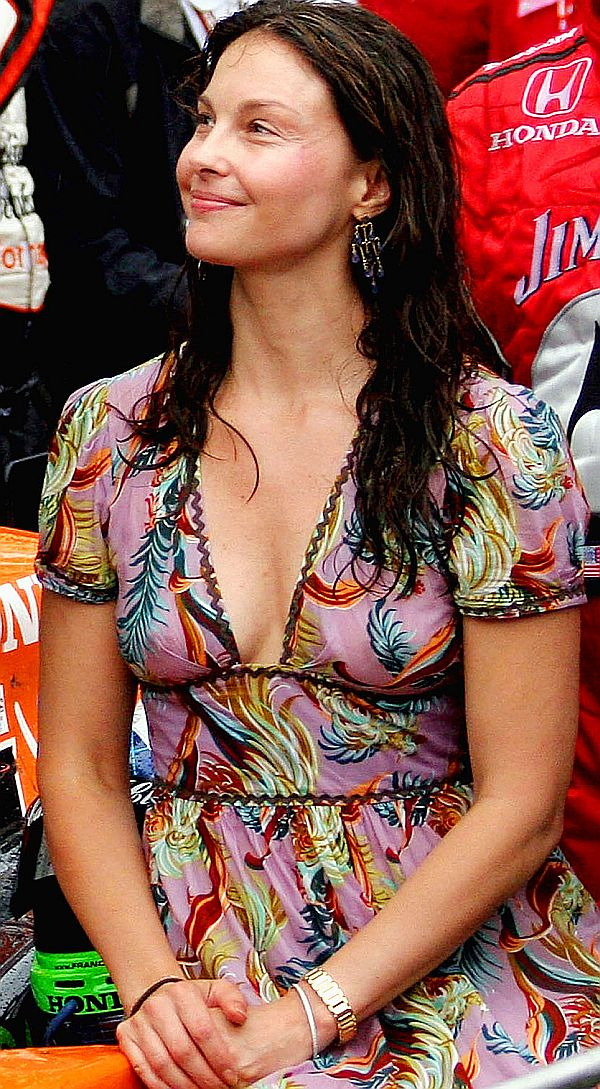 Ashley Judd See Through Nips At The INDY 500