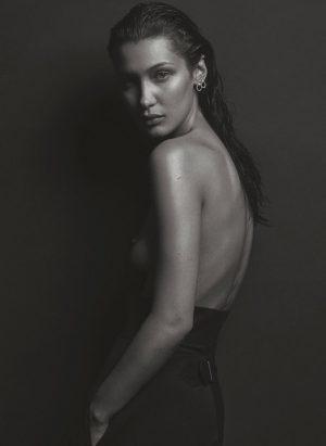 Bella Hadid Nipples for V Magazine