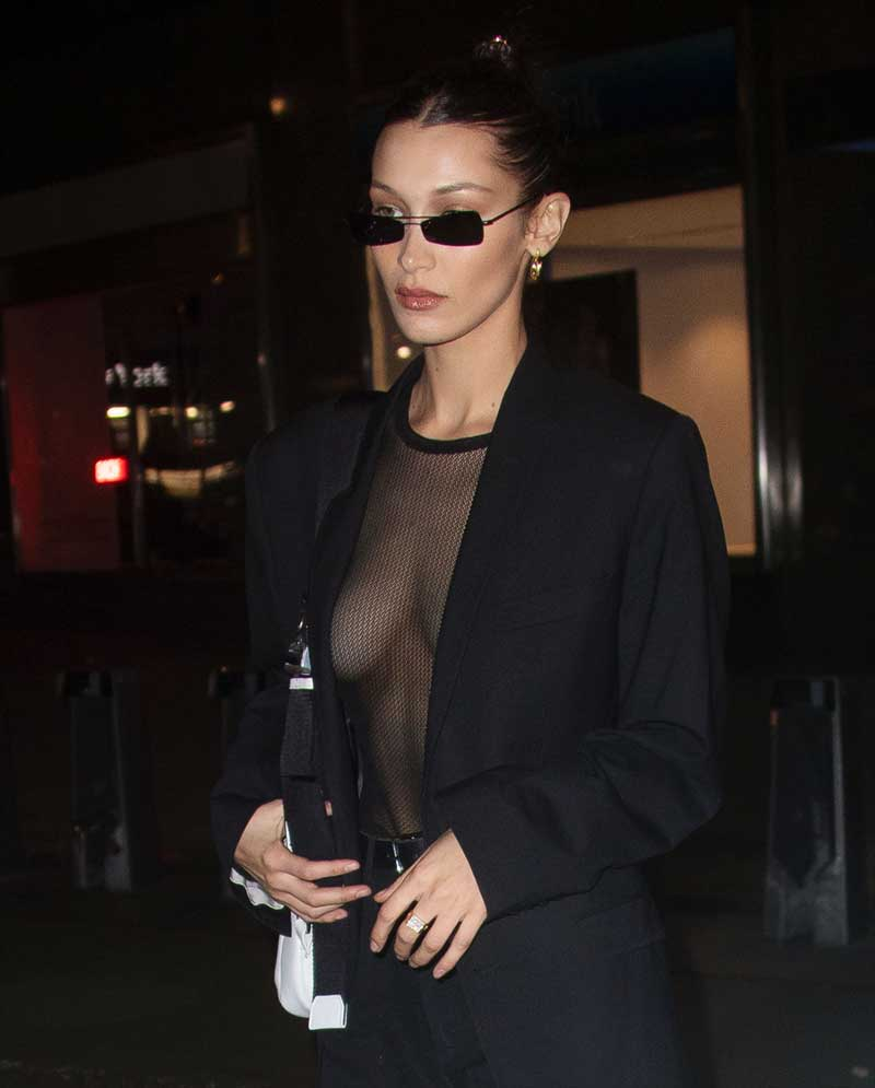 Bella Hadid Shows Off Some Side Boob