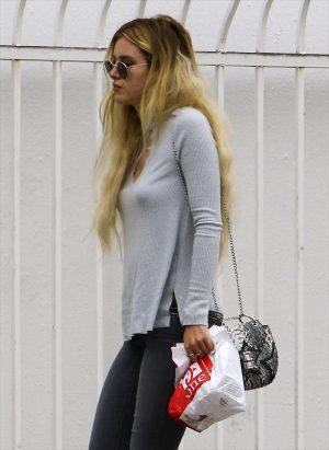 Bella Thorne Puffie Pokies in a Sweater
