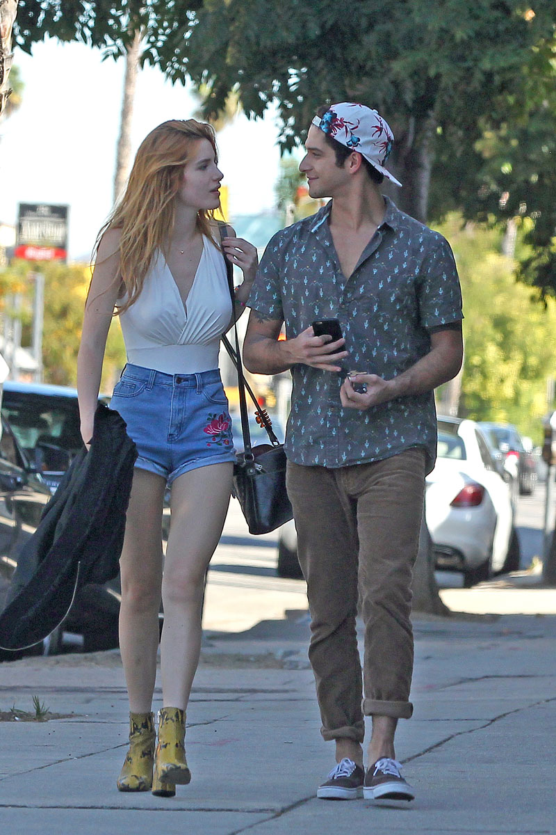 bella thorne puffy nipples while out for a walk on taxidrivermovie