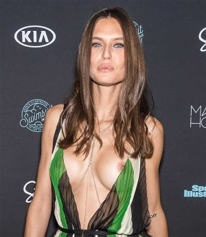 Bianca Balti Nip Slip at an SI Swimsuit Issue Event