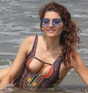 Blanca Blanco Nipple Pops Out of her Bathing Suit