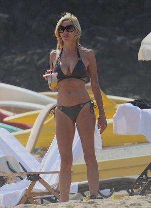 Camille Grammer Slight Bikini Cameltoe