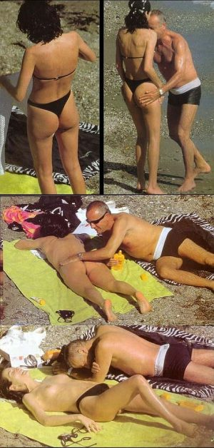 Carrie Ann Moss Sunbathing Topless And Gets Rubbed Down