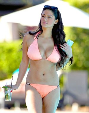 Casey Batchelor Serious Cameltoe at the Pool