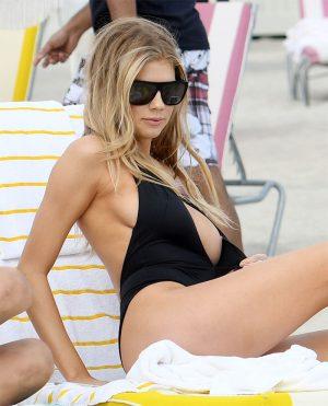 Charlotte McKinney Nipple Flash on the Beach