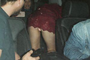 Charlotte McKinney Peach Pantie Upskirt Night on the Town