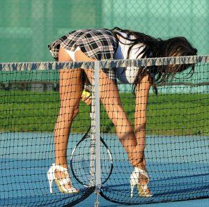 Chloe Khan Posed Pantie Upskirt on the Tennis Court