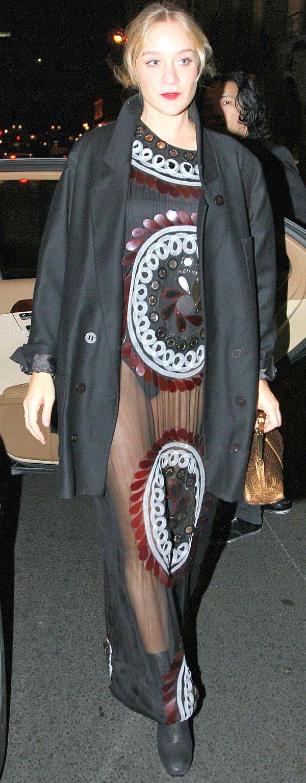 Chloe Sevigny See Through Dress