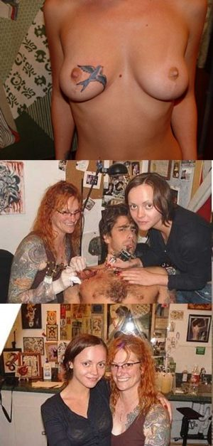 Christina Ricci Topless With Her Tattoo