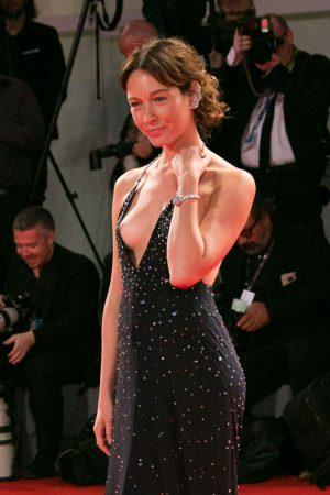 Cristiana Capotondi Nip Slip on the Red Carpet