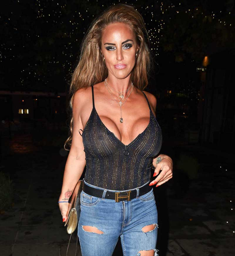 Danielle Mason's Big Fake Boobs in See Through Top