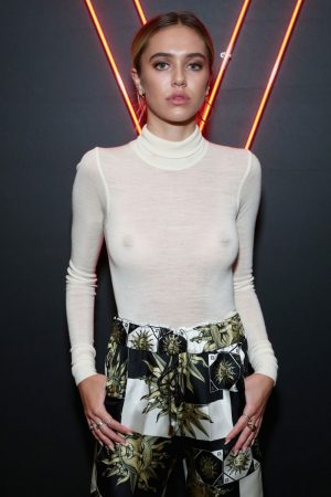 Delilah Hamlin No Bra in Completely See Through Top