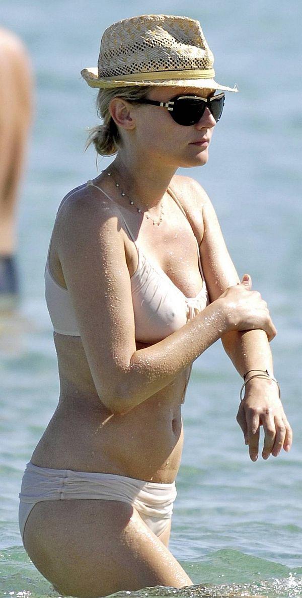 Diane Kruger See Through Bikini Top
